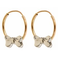 Children's Bow Hoop Earrings