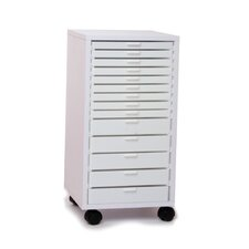 "14"" Mini Stackable Rolling Cabinet"