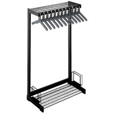 Office Rak Floor Rack with Boot Shelf and Umbrella Holder