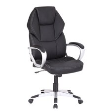 High Back Leather Look Executive Office Chair