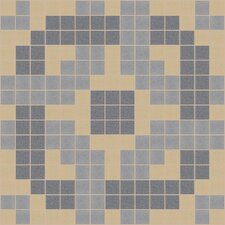 "Urban Essentials 12"" x 12"" Rounded Lattice Mosaic Pattern Tile in Urban Khaki"