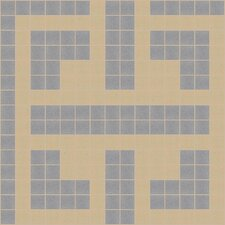 "Urban Essentials 12"" x 12"" Geometric Lattice Mosaic Pattern Tile in Urban Khaki"