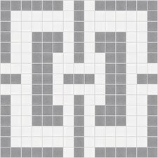 "<strong>Mosaic Loft</strong> Urban Essentials 12"" x 12"" Slight Lattice Mosaic Pattern Tile in Calm Grey"
