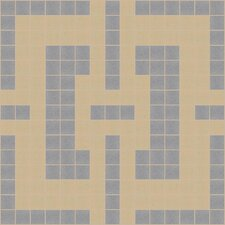 "Urban Essentials 12"" x 12"" Slight Lattice Mosaic Pattern Tile in Urban Khaki"