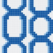 "<strong>Mosaic Loft</strong> Urban Essentials 24"" x 24"" Varied Chains Mosaic Pattern Tile in Lakefront Blue"