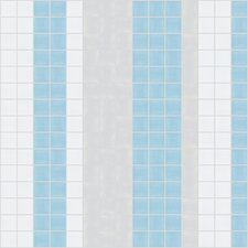 "<strong>Mosaic Loft</strong> Urban Essentials 12"" x 12"" Varied Stripes Mosaic Pattern Tile in Breeze Blue"