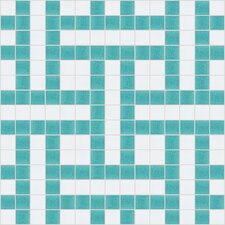 "<strong>Mosaic Loft</strong> Urban Essentials 12"" x 12"" Basket Weave Mosaic Pattern Tile in Deep Teal"
