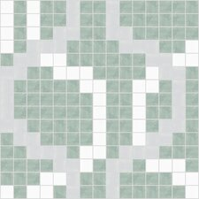 "Urban Essentials 12"" x 12"" Wandering Mosaic Pattern Tile in Placid Turquoise"