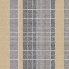 "Urban Essentials 12"" x 12"" Varied Stripes Mosaic Pattern Tile in Urban Khaki"