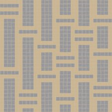 "Urban Essentials 24"" x 24"" Modern Bamboo Mosaic Pattern Tile in Urban Khaki"