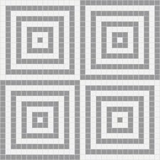 "<strong>Mosaic Loft</strong> Urban Essentials 24"" x 24"" Concentric Squares Mosaic Pattern Tile in Calm Grey"