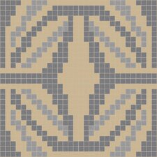 "Urban Essentials 24"" x 24"" Gothic Ornament Mosaic Pattern Tile in Urban Khaki"