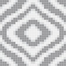 "<strong>Mosaic Loft</strong> Urban Essentials 24"" x 24"" Groovy Mosaic Pattern Tile in Calm Grey"