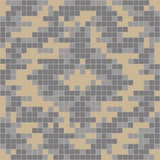 "Urban Essentials 24"" x 24"" Cepko Ikat Mosaic Pattern Tile in Urban Khaki"