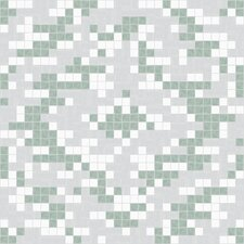 Urban Essentials Cepko Ikat Mosaic Pattern Tile in Placid Turquoise