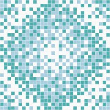 Urban Essentials Scatter Mosaic Pattern Tile in Deep Teal