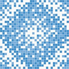 "<strong>Mosaic Loft</strong> Urban Essentials 24"" x 24"" Scatter Mosaic Pattern Tile in Lakefront Blue"