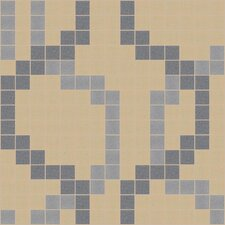 "Urban Essentials 12"" x 12"" Wandering Mosaic Pattern Tile in Urban Khaki"