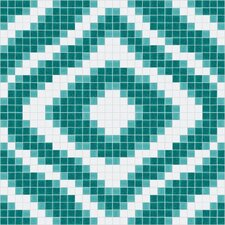 "<strong>Mosaic Loft</strong> Urban Essentials 24"" x 24"" Groovy Mosaic Pattern Tile in Deep Teal"