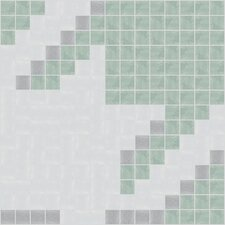 "<strong>Mosaic Loft</strong> Urban Essentials 12"" x 12"" Houndstooth Mosaic Pattern Tile in Placid Turquoise"