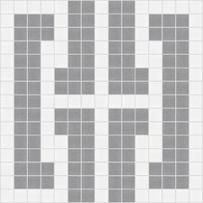 "<strong>Mosaic Loft</strong> Urban Essentials 12"" x 12"" Bold Chain Mosaic Pattern Tile in Calm Grey"