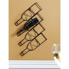 4 Wall Mount Wine Rack