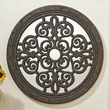 Round Scroll Design Wall Mirror