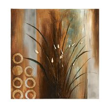 Water Plant Painting Print on Canvas
