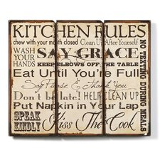 Kitchen Rules Wall Plaque