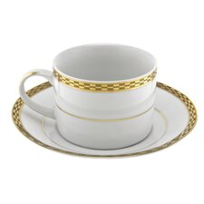 Athens Gold Rim 8 oz. Teacup and Saucer
