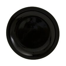 "Black Coupe 7.5"" Salad / Dessert Plate"