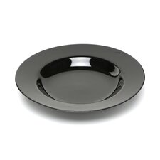 "Black Rim 9"" Soup Bowl"