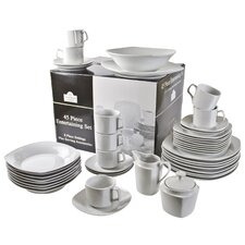Square 45 Piece Dinnerware Set