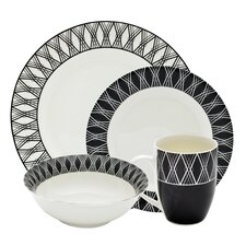 Geo 16 Piece Dinnerware Set