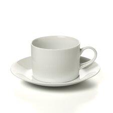 Royal White 8 oz. Teacup and Saucer (Set of 6)