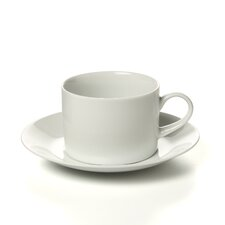 Royal White 8 oz. Teacup and Saucer