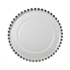 "<strong>Ten Strawberry Street</strong> Belmont Silver 11"" Dinner Plate"