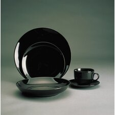 <strong>Ten Strawberry Street</strong> Black Coupe Dinnerware Set