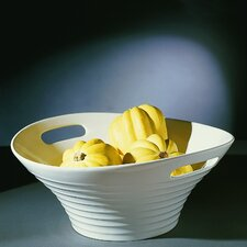 "Oslo Serveware 15.75"" Fruit Bowl with Handle"