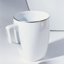 <strong>Ten Strawberry Street</strong> Lotus Silver Line 10 oz. Square Mug