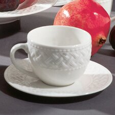 <strong>Ten Strawberry Street</strong> Havana Weave Coupe 8 oz. Teacup and Saucer