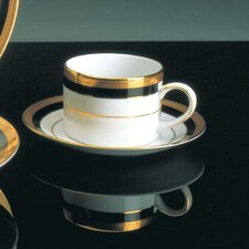 <strong>Ten Strawberry Street</strong> Sahara Black 8 oz. Teacup and Saucer