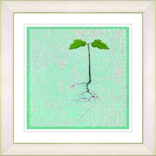 """Six Steps"" Off the Ground by Zhee Singer Framed Giclee Print Fine Art in Mint Green"