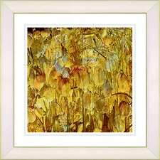 """Tulip Garden"" by Zhee Singer Framed Giclee Print Fine Art in Golden"