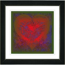 """Filigree Heart"" by Zhee Singer Framed Giclee Print Fine Art in Red"