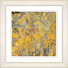 """Tulip Garden"" by Zhee Singer Framed Giclee Print Fine Art in Orange"