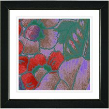 """Floral Conjunction"" by Zhee Singer Framed Giclee Print Fine Art in Red"