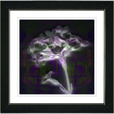"""Floral Montage"" by Zhee Singer Framed Giclee Print Fine Art in Purple"