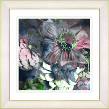 """Annapolis Floral Cloud"" by Zhee Singer Framed Giclee Print Fine Art in Pink"