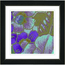 """Floral Conjunction"" by Zhee Singer Framed Giclee Print Fine Art in Purple"